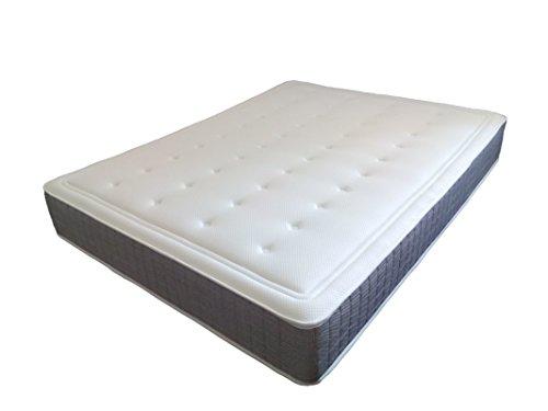 SUENOSZZZ- Colchón 10 Cms de Viscoelastico *Confort Golf* (Camas 150 cms) Medida 150 x 190 x 27 Cms Color Blanco/Ceniza