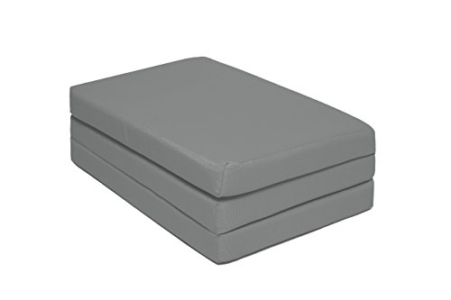 ZOLLNER® Colchón plegable para cuna de viaje / colchón de viaje bebé / niño / cama plegable bebé, 60x120x6 cm, antracita, funda extraible, del especislista textil para hostelería, serie «Kima»