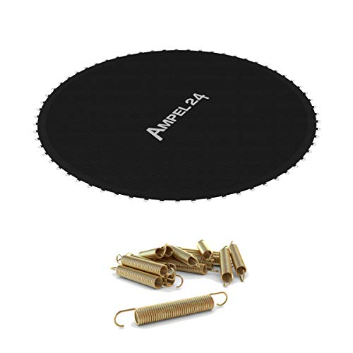 Ampel 24 Lona de Salto de reemplazo para Cama Elástica con diametro de 366 cm + 12 muelles | 72 Ojales | Costura Décupla | Resistente | Carga MAX 160kg