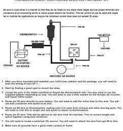 electric fan relay wiring kit cold case radiators [ 1275 x 1650 Pixel ]
