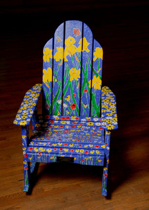 painted adirondack chairs drive shower chair without back hand build community spirit in clinton ny artist tim pryputniewicz sponsor real estate location owens pavlot funeral service