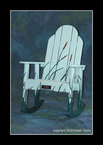 Handpainted Adirondack chairs build community spirit in