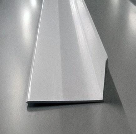 White Plastic External Angle Flashing  ColdroomSparescouk