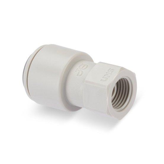 DP326 Adattatore per rubinetto innesto da Push-Fit 3/8″ a filetto UNS da 7/16″