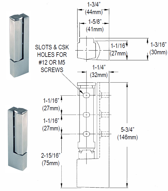Refrigerator And Freezer R50-2850 Door Hinge