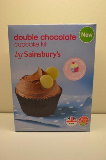 double chocolate cupcakes sainsbury's