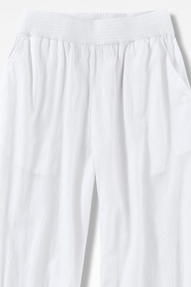 Crinkle Cotton Pants Coldwater Creek