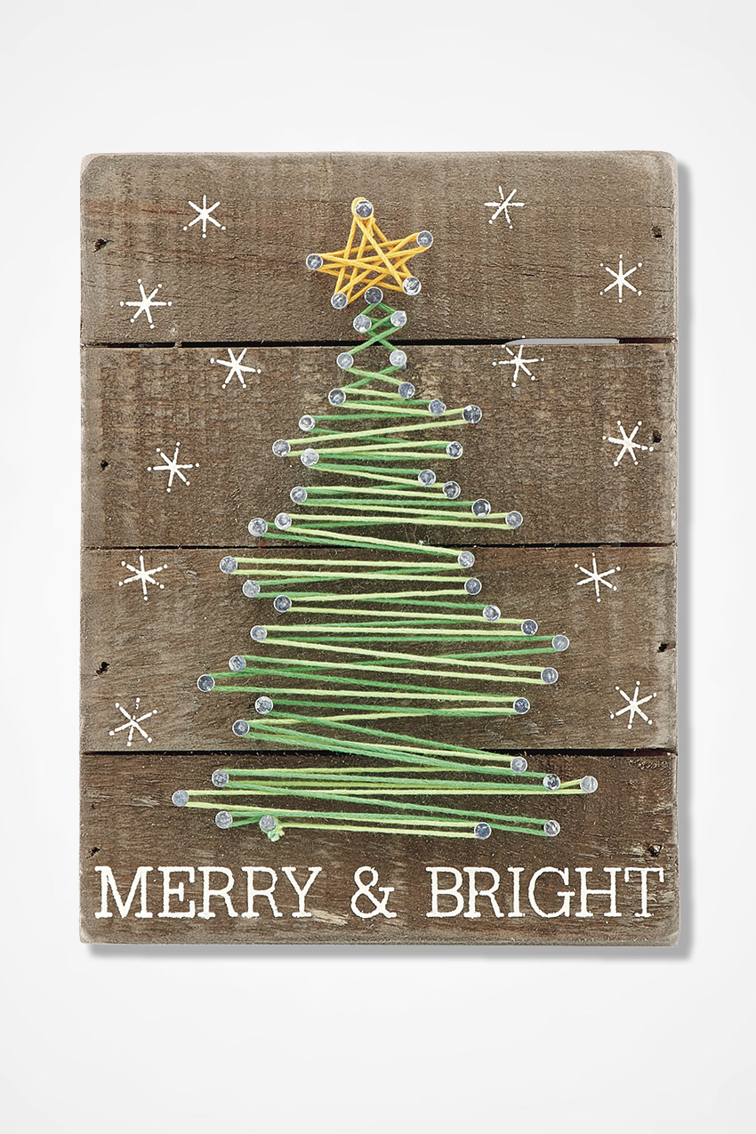 Merry and Bright String Art  Coldwater Creek