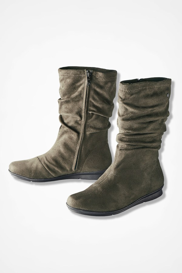 """""""cage"""" Microfiber Boots Bussola - Coldwater Creek"""