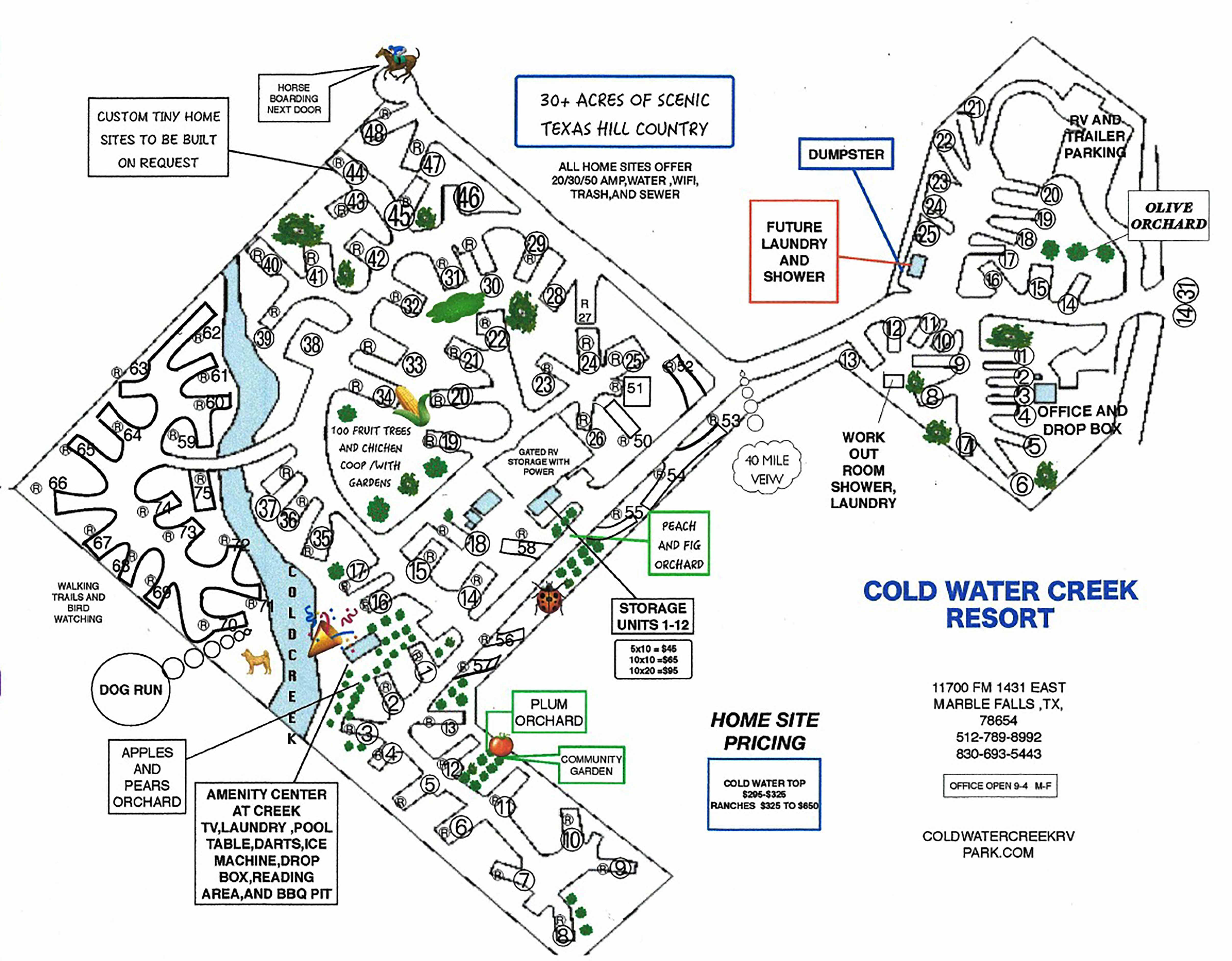 Coldwater Creek Rv Park Marble Falls Texas