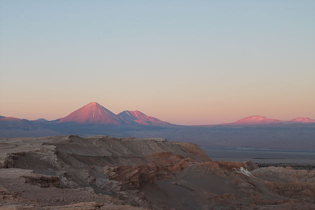 Pôr do sol no Atacama