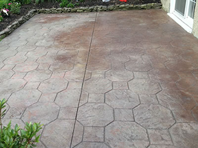 re sealing existing stamped concrete