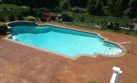 Colored Concrete Pool Deck Unique Concrete Decks Grey