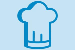 Gorro de chef para acceso a menús escolares de profesores