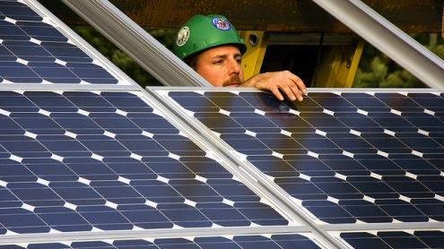 Panel solar por OregonDOT