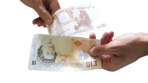 LIbras y euros por images of money