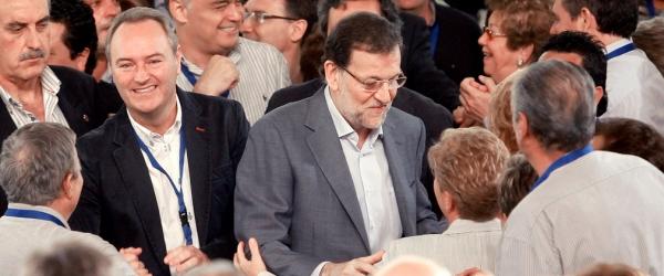 Mariano Rajoy Alberto Fabra por Partido Popular Comunitat Valenciana