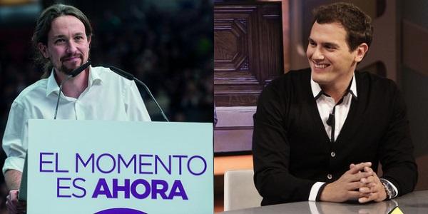 Pablo Iglesias y Albert Rivera por Ministerio de Cultura de la Nación Argentina y El Hormiguero