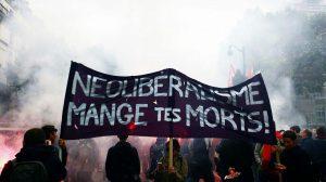 Pancarta en manifestación contra la Loi de Travail. Origen TW