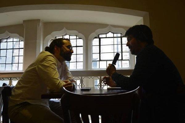 Koldo Serra con Emilio Leon