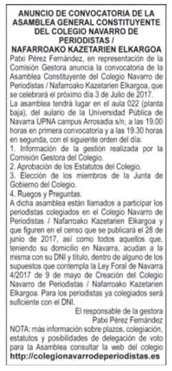 Anuncio - Diario de Navarra - 13/6/17