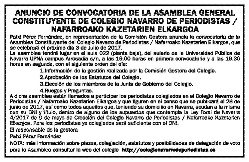 Anuncio - Diario de Noticias - 9/6/17