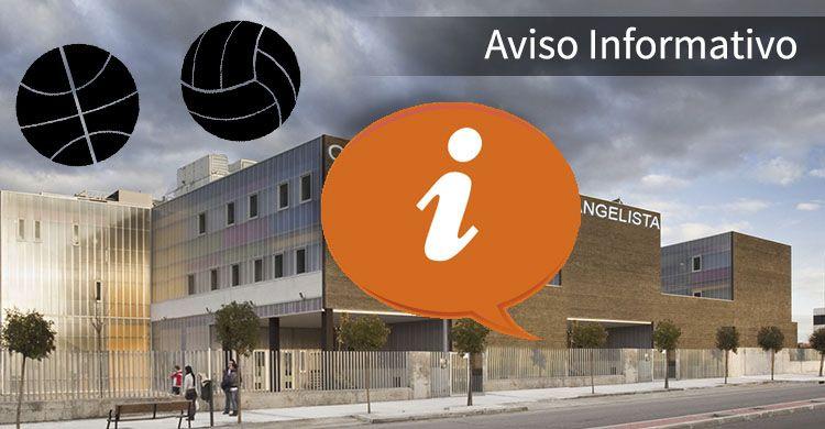 Aviso Informatico Deportes ColegioSJE