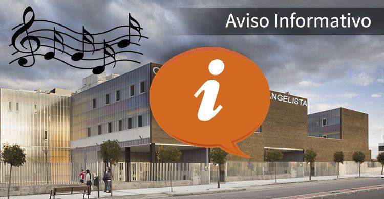 Aviso Informatico Conservatorio ColegioSJE
