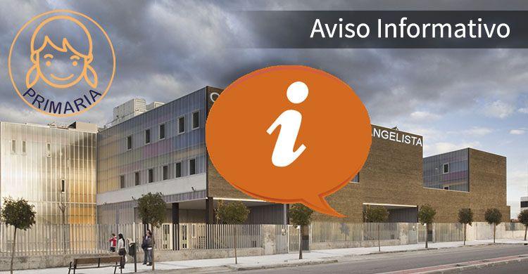 Aviso Informatico Primaria ColegioSJE