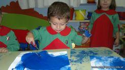 Pintando en Salas de 3 15