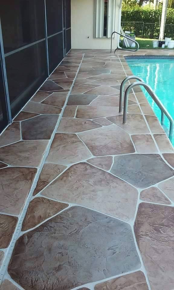 Concrete Acid Staing  Epoxy Flooring