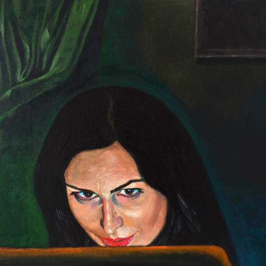 Megan Working 2015 o/c 31x31 inches