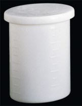 Cylindrical Tank with Cover and Spigot, HDPE