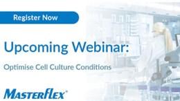 Banner image for Masterflex webinar for pumping live cells in biopharma applications