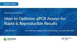 Banner for webinar on qPCR assays