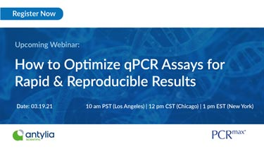 Banner for webinar on qPCR assays