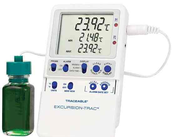 Traceable Excursion-Tra Data Logging Thermometer 1 bottle probe
