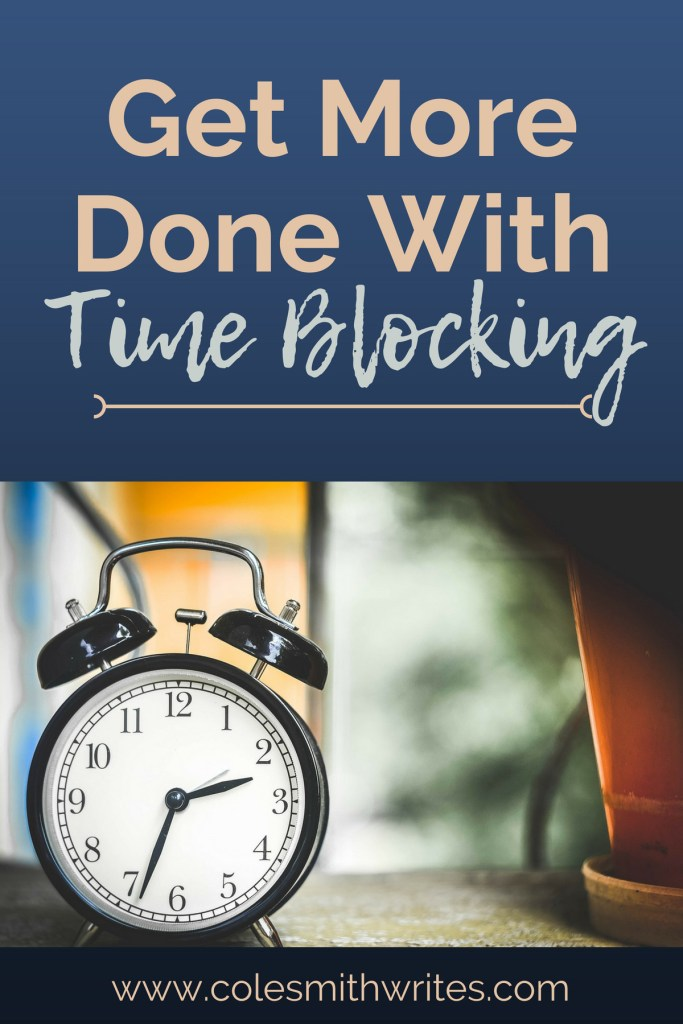 Want to get more done? Try time blocking your writing schedule. #amwriting #productivity #planning #wordquota #writemore #writersblock #writersunite #writingtips #nanowrimo #preptober