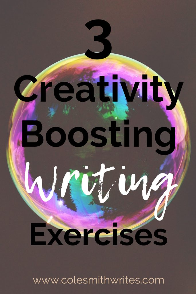 Try these 3 creativity boosting exercises when you're feeling stuck and uninspired. | #creativewriting #writing #writersunite #writers #writinglife #writinginspiration #motivation #authors #readers #writingtips #fiction #brainstorming #ideas #bemorecreative #creativewritingprompts #storyideas #writinghacks #learning #writingactivities #writersworkshop #writingcharacters