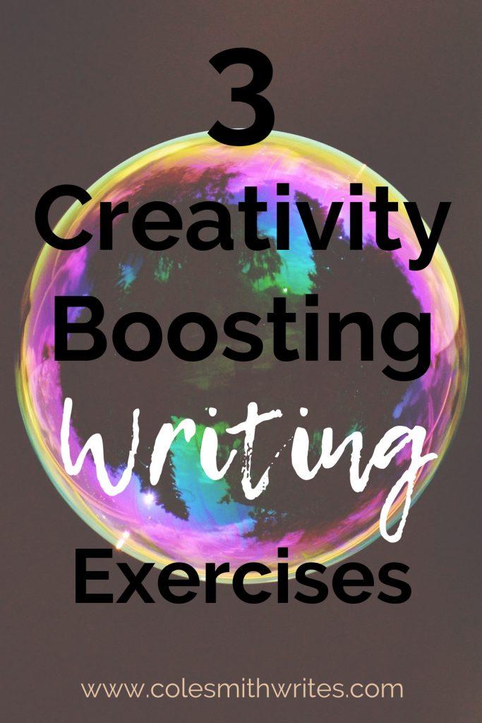 Here are 3 creativity- boosting exercises when you've got writer's block: | #creativewriting #writing #writersunite #writers #writinglife #writinginspiration #motivation #authors #readers #writingtips #fiction #brainstorming #ideas #bemorecreative #writersworkshop #storyideas #writinghacks #learning #writingactivities #prompts #writingcharacters #writestuff #skills #workshop #writerproblems
