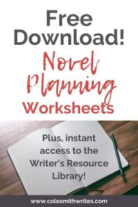Free Download: Novel Planning Worksheets | #authors #fiction #help #nonfiction #pantser #planner #writers #writing