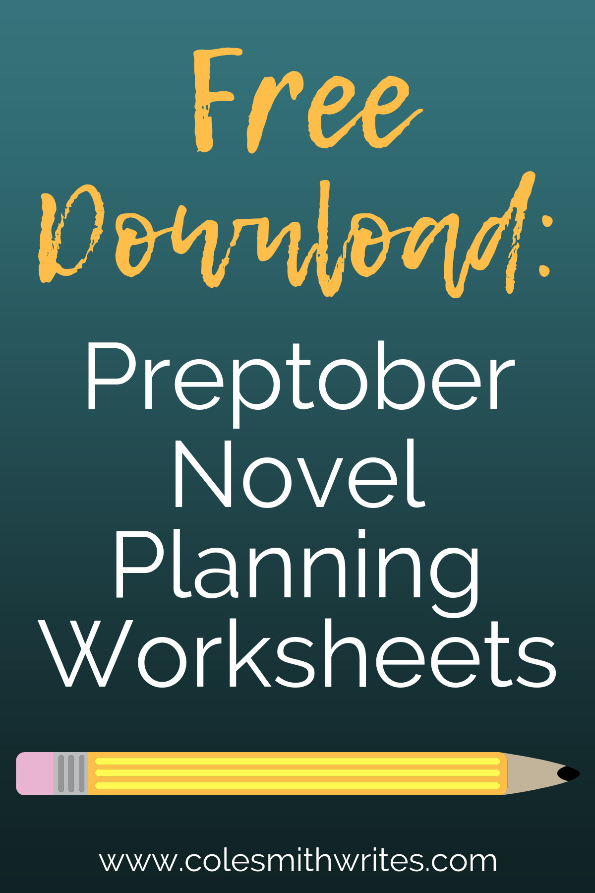 Do you use Preptober Novel Planning Worksheets? I do!