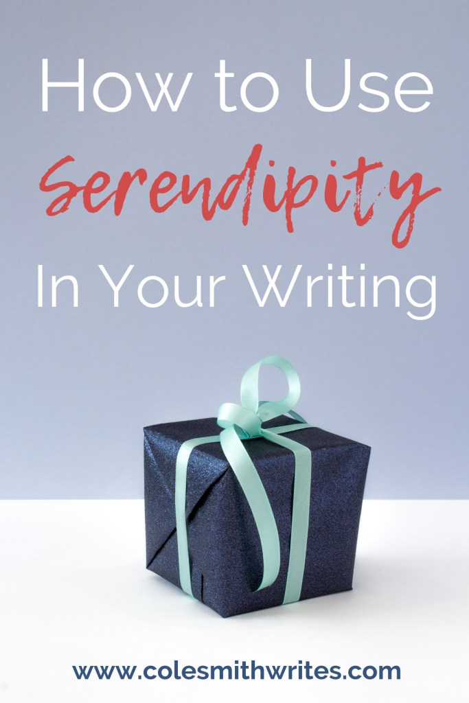 Is your WIP missing a little spark of interest? Find out how to use serendipity in your writing.| #writers #screenwriting #writingtips #fiction #authors #readers #writersunite #writinghelp #writingadvice #writingprompts