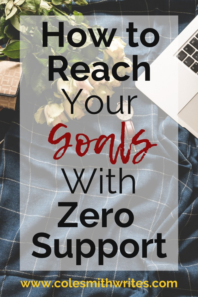 Here's how to reach your goals with zero support: #motivation #inspiration #indieauthors #selfpublishing