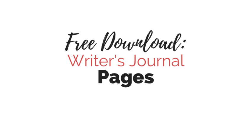 Cover: Free Download-- Writer's Journal Pages | Cole Smith Writes