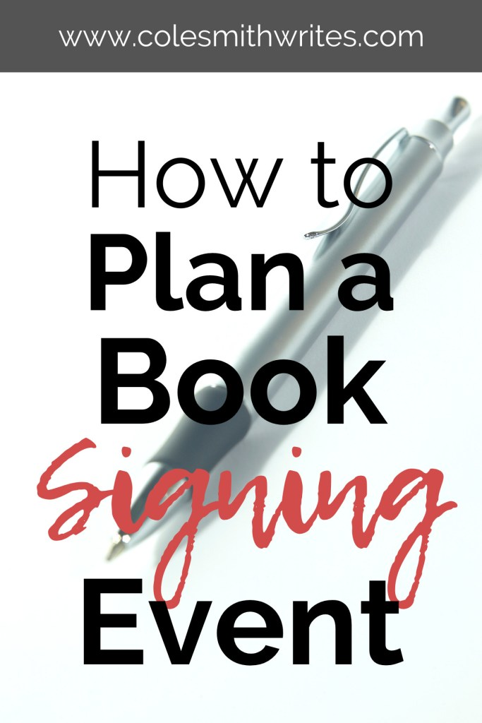 Here's how to plan a book signing event