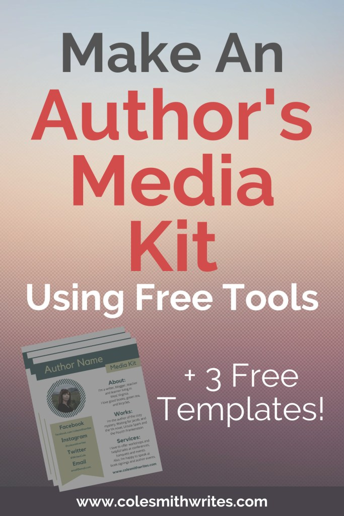 Make An Author's Media Kit Using Free Tools | #ideas #inspiration #motivation #writing