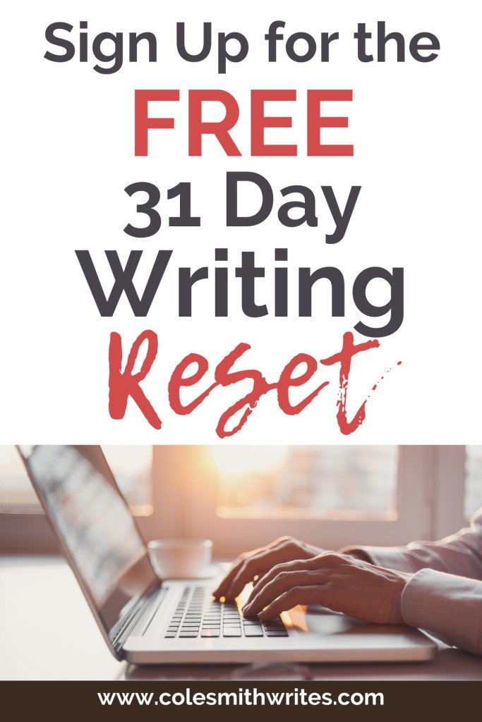 Try the free 31 day writing reset! | #inspiration #motivation