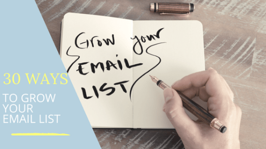 ways to grow your email list