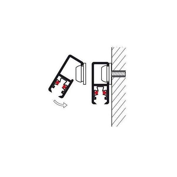 Sistema para colgar cuadros MiniRail Blanco 200 cm.